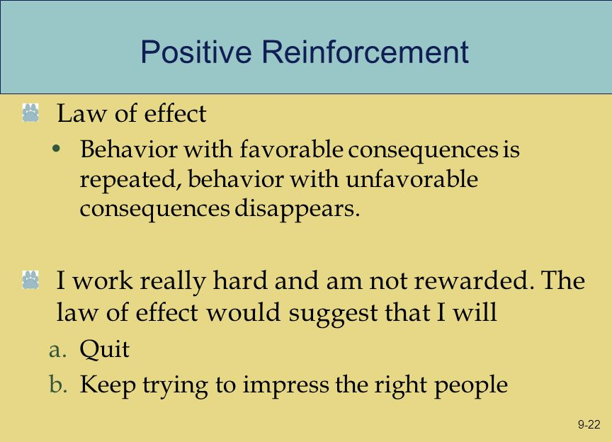 Positive Reinforcement