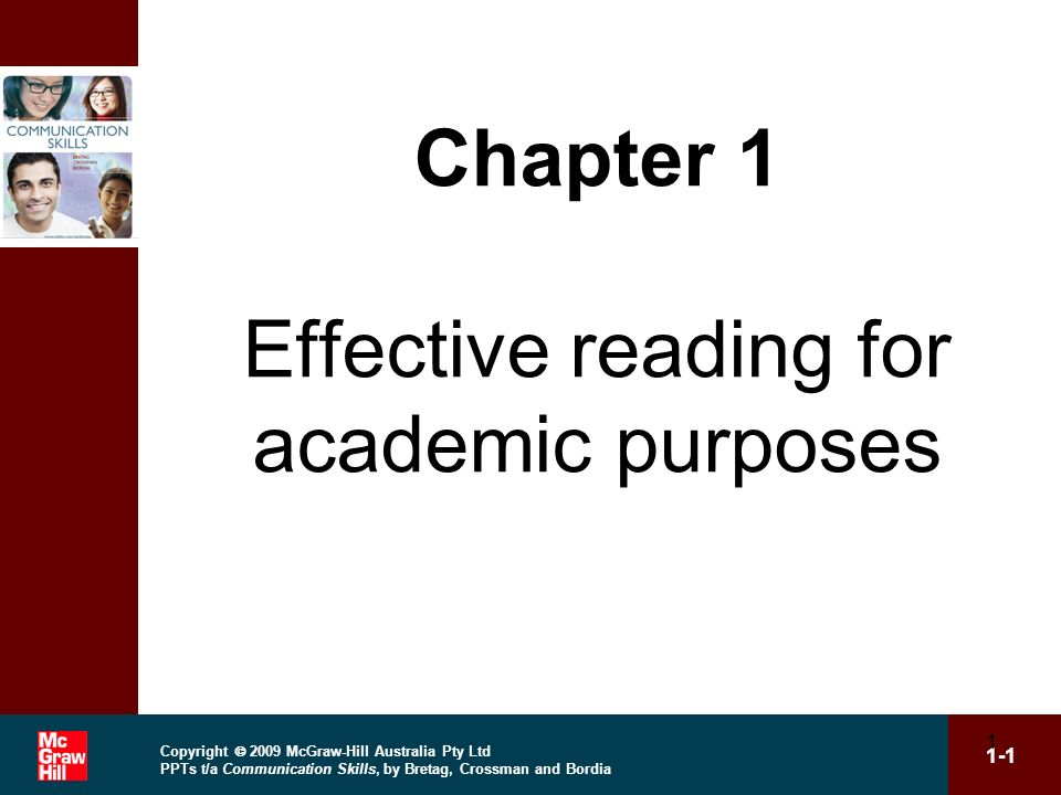 Chapter 1 Effective reading for academic purposes