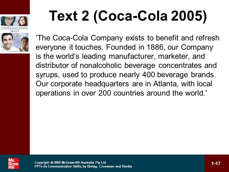 Text 2 (Coca-Cola 2005)