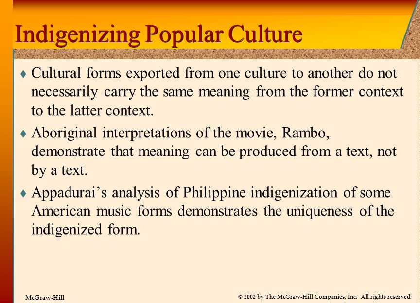 Indigenizing Popular Culture