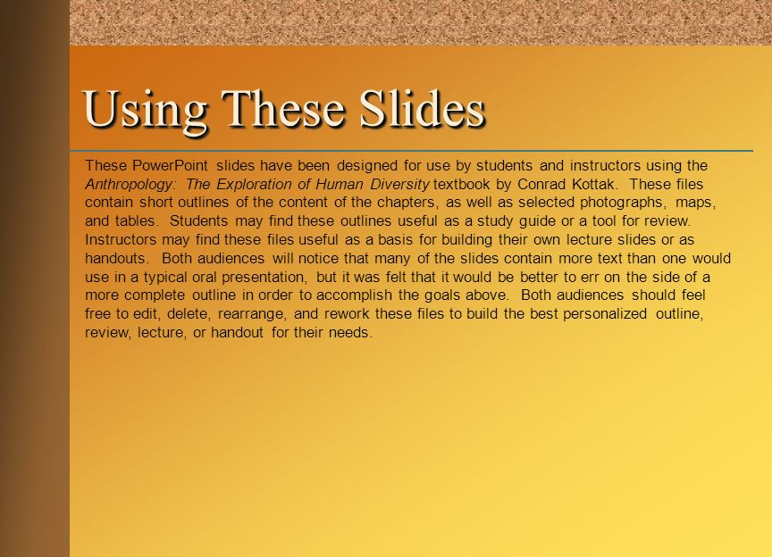 Using These Slides