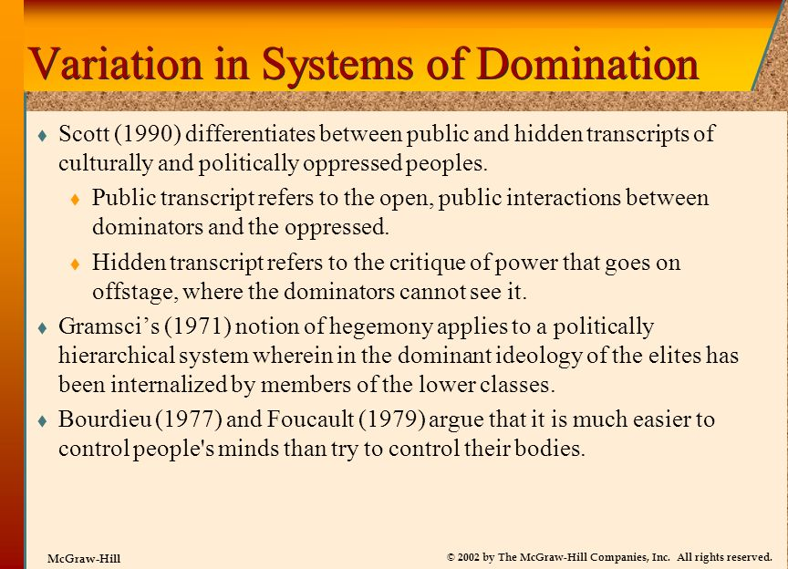 Variation in Systems of Domination