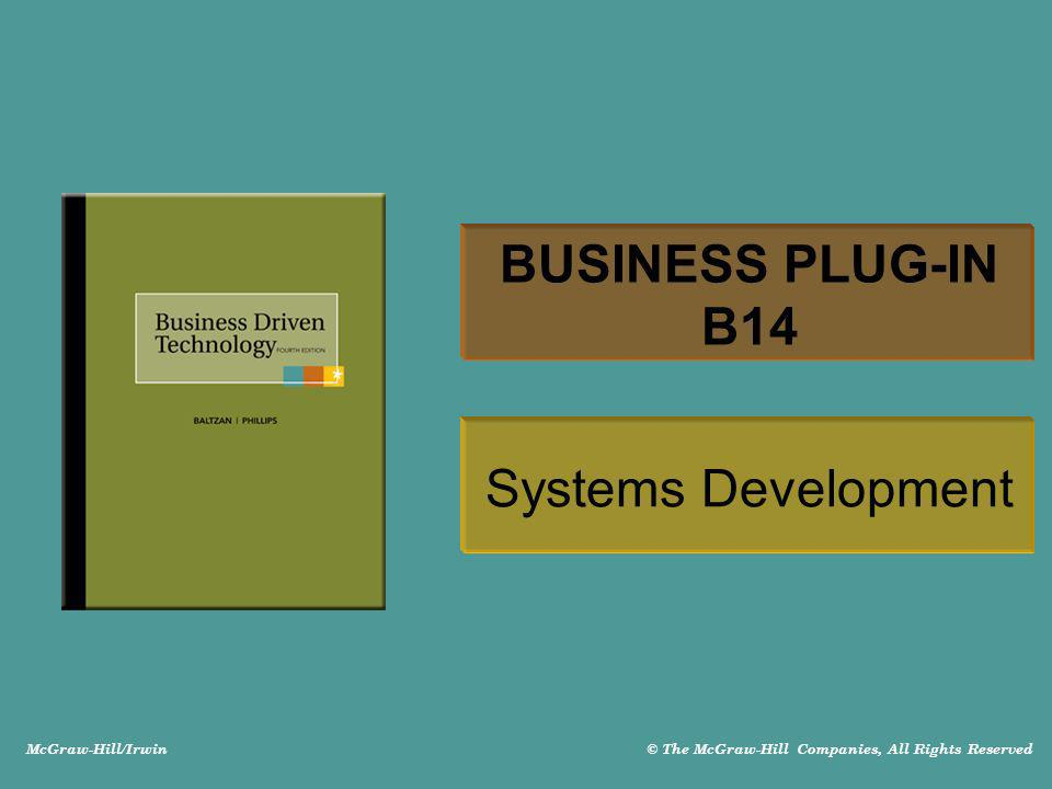 BUSINESS PLUG-IN B14 Systems Development