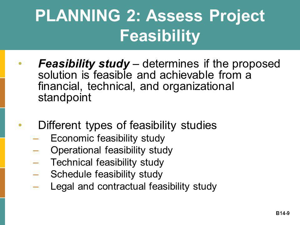 Feasibility Study – Determining Whether the Project is Feasible