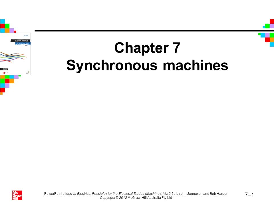 Chapter 7 Synchronous machines