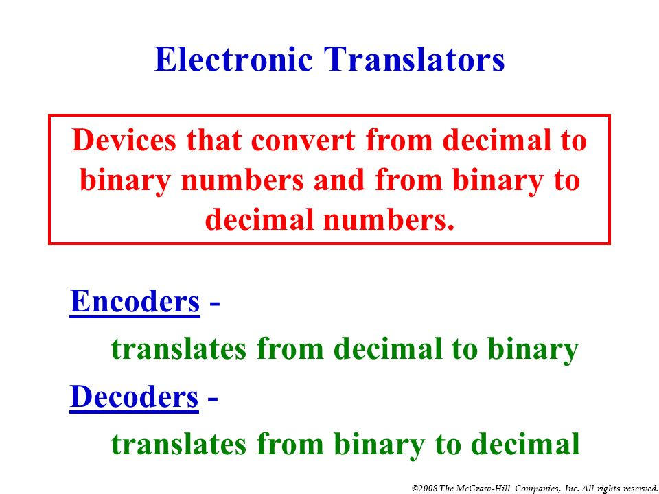 Electronic Translators