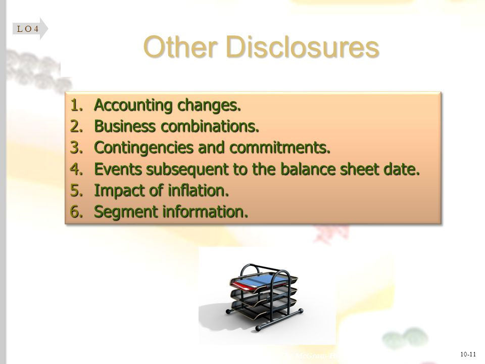 Other Disclosures Accounting changes. Business combinations.