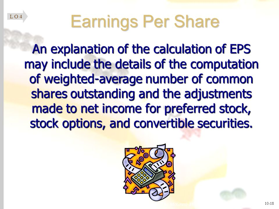 L O 4 Earnings Per Share.