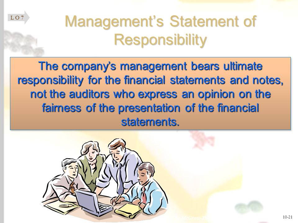 Management's Statement of Responsibility