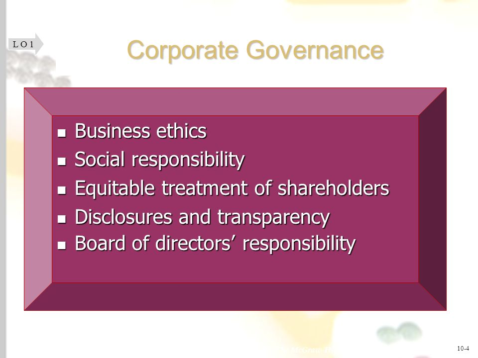 Corporate Governance Business ethics Social responsibility