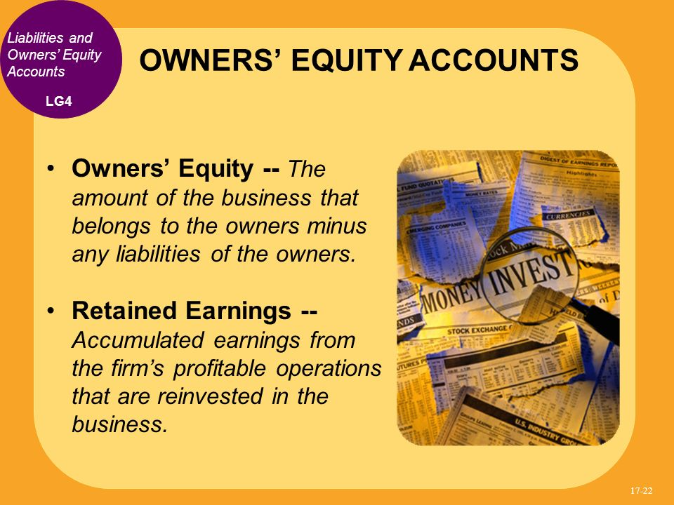 OWNERS' EQUITY ACCOUNTS