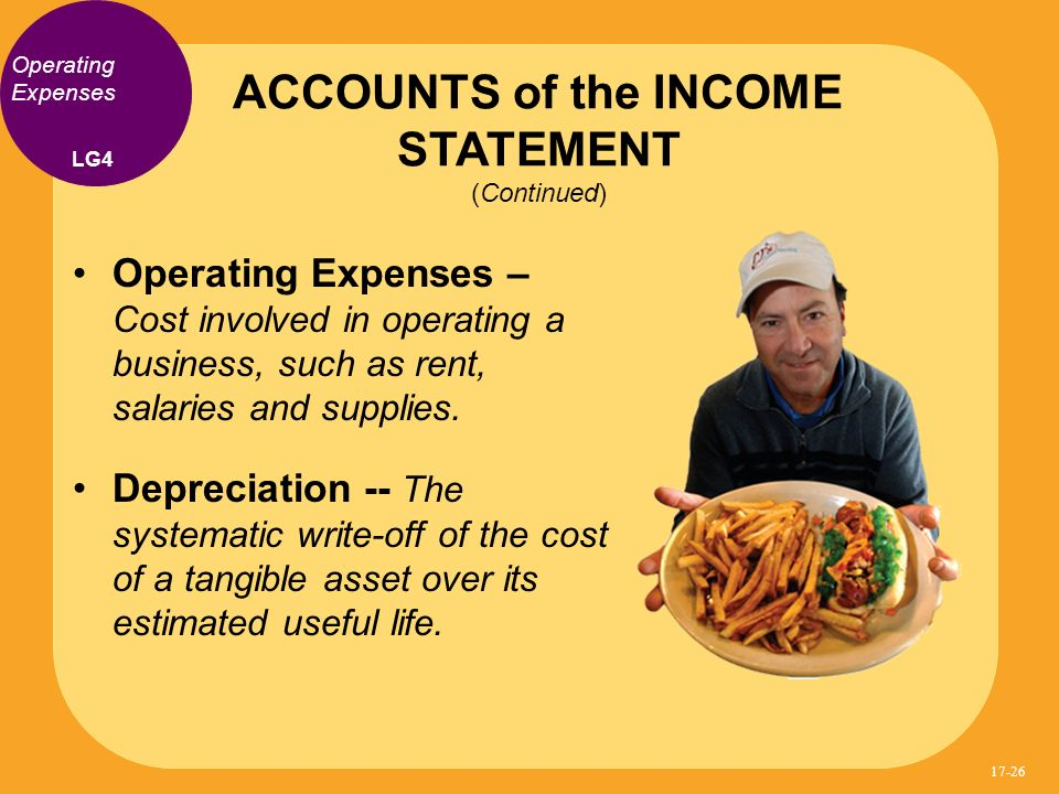 ACCOUNTS of the INCOME STATEMENT (Continued)