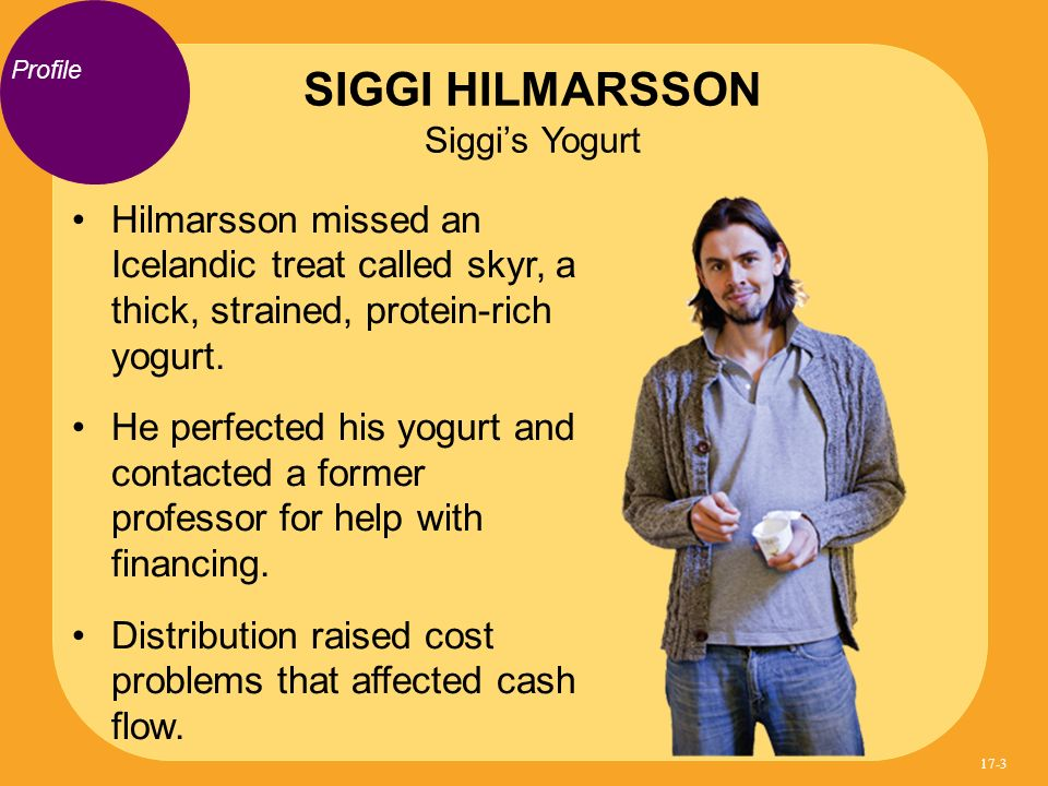 SIGGI HILMARSSON Siggi's Yogurt