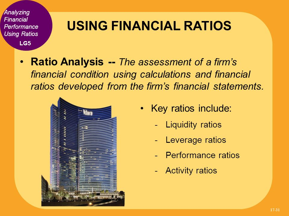 USING FINANCIAL RATIOS