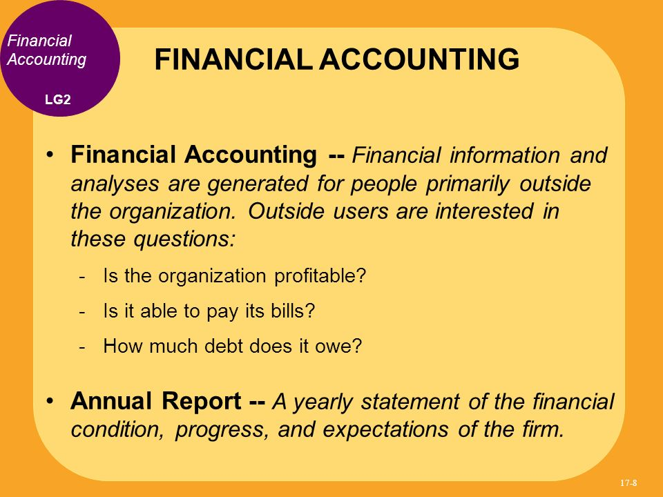 FINANCIAL ACCOUNTING Financial Accounting. LG2.
