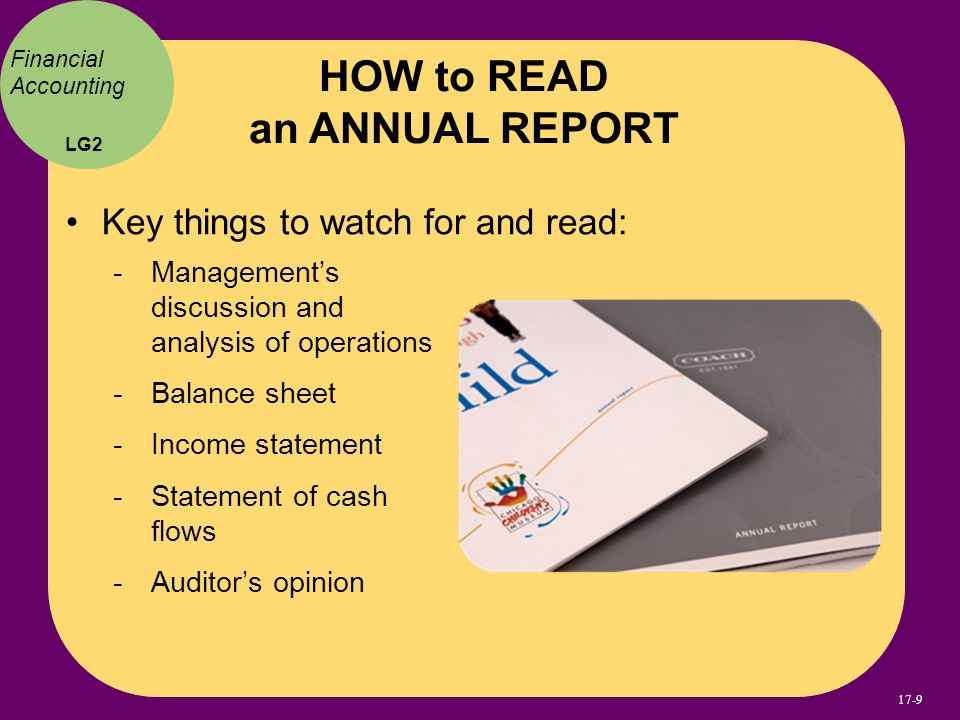 HOW to READ an ANNUAL REPORT