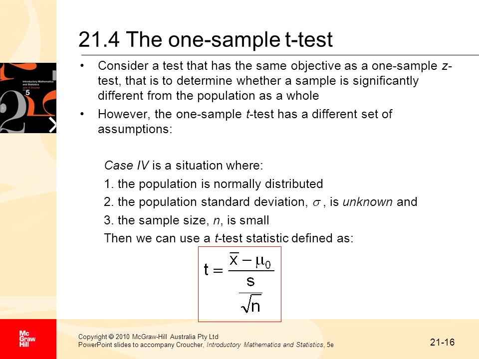 21.4 The one-sample t-test
