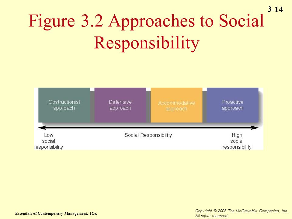 Figure 3.2 Approaches to Social Responsibility