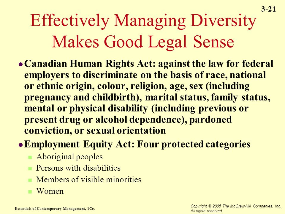Effectively Managing Diversity Makes Good Legal Sense