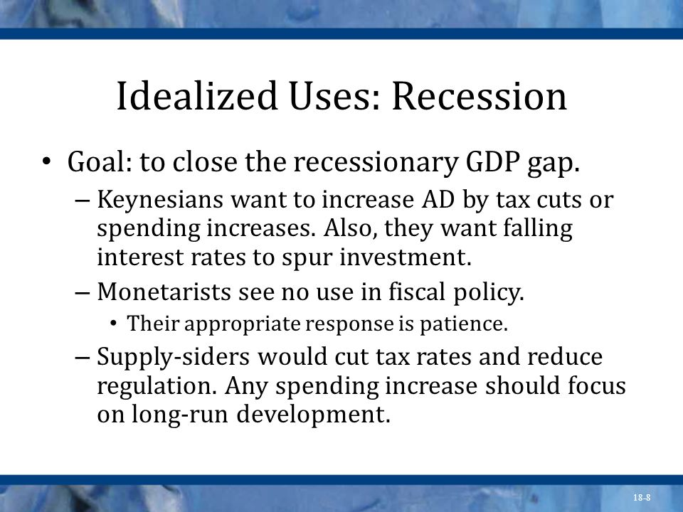 Idealized Uses: Recession