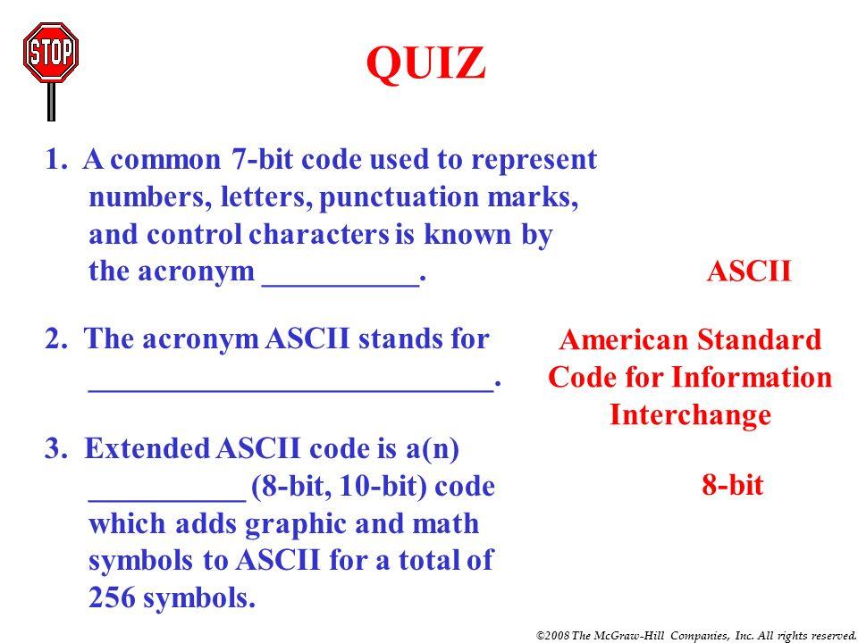 American Standard Code for Information Interchange
