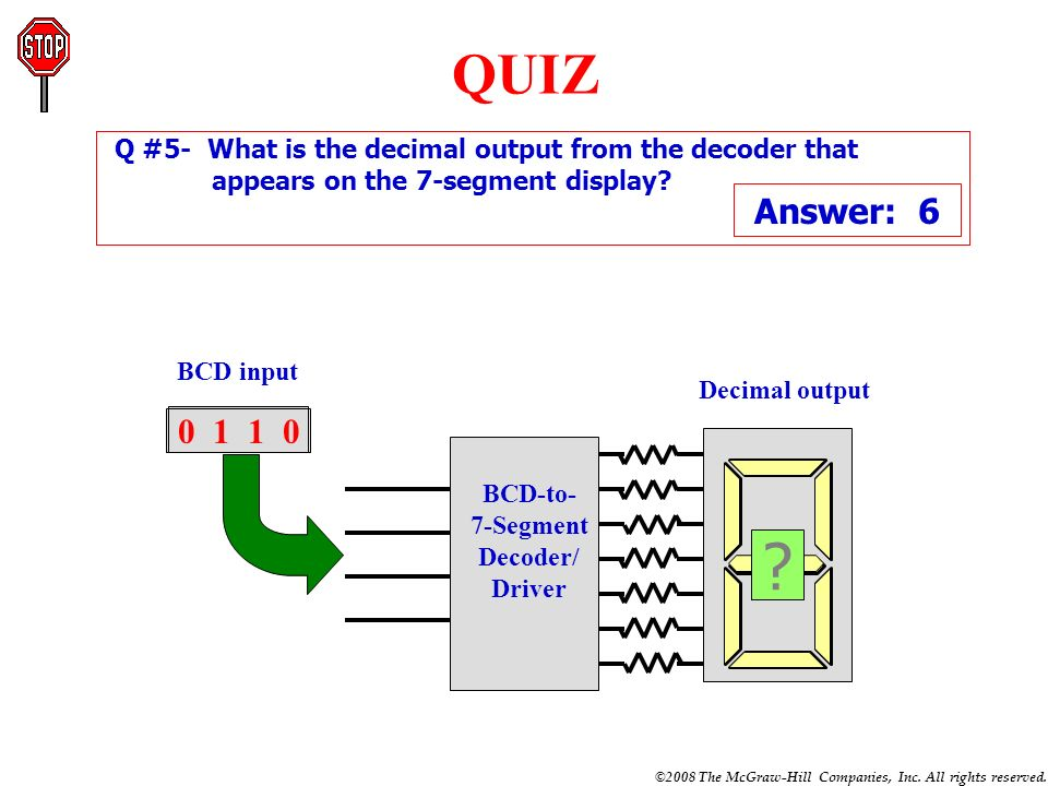 QUIZ Answer: 9 Answer: 7 Answer: 6 Answer: 0 Answer: 3 0 1 1 1