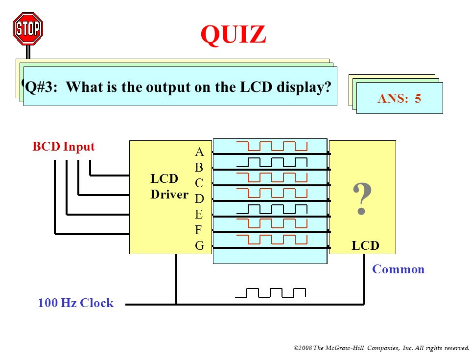 QUIZ Q#1: What is the output on the LCD display
