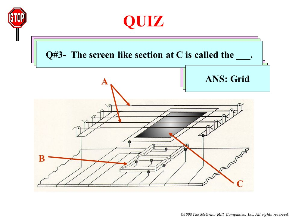 QUIZ Q#1- The thin wires at A are called heaters or ___.