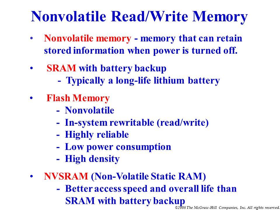 Nonvolatile Read/Write Memory