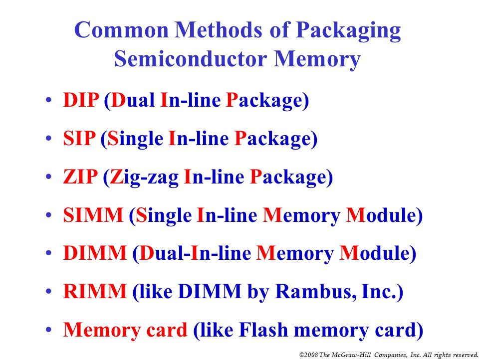 Common Methods of Packaging Semiconductor Memory