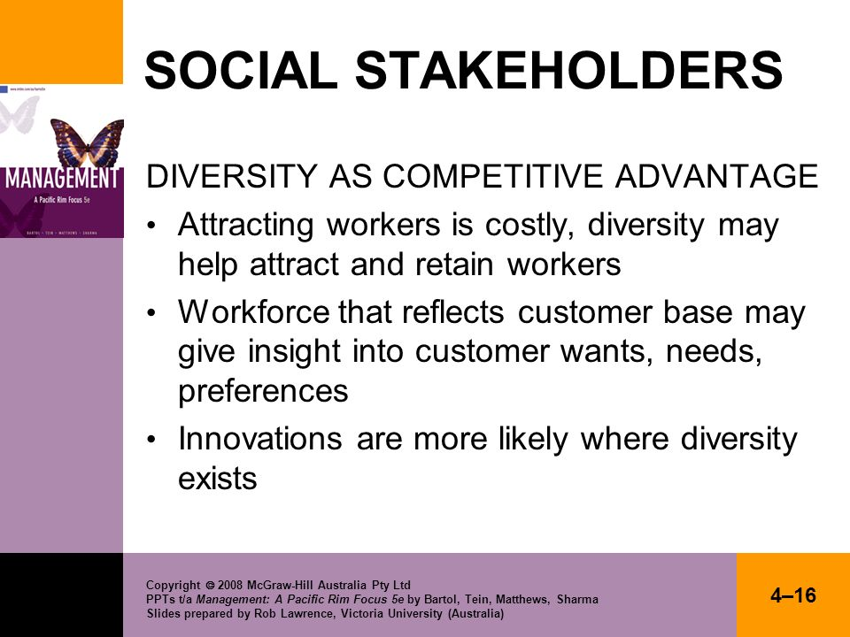SOCIAL STAKEHOLDERS DIVERSITY AS COMPETITIVE ADVANTAGE