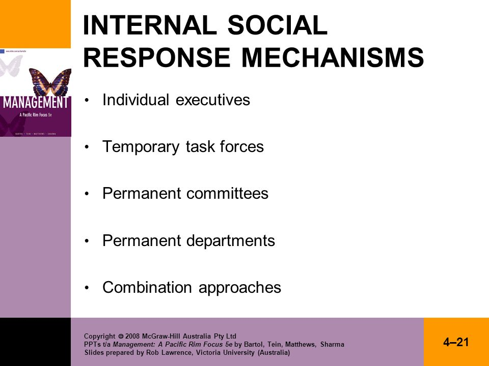 INTERNAL SOCIAL RESPONSE MECHANISMS