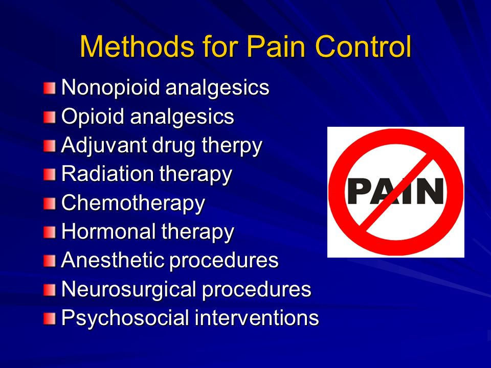 Methods for Pain Control