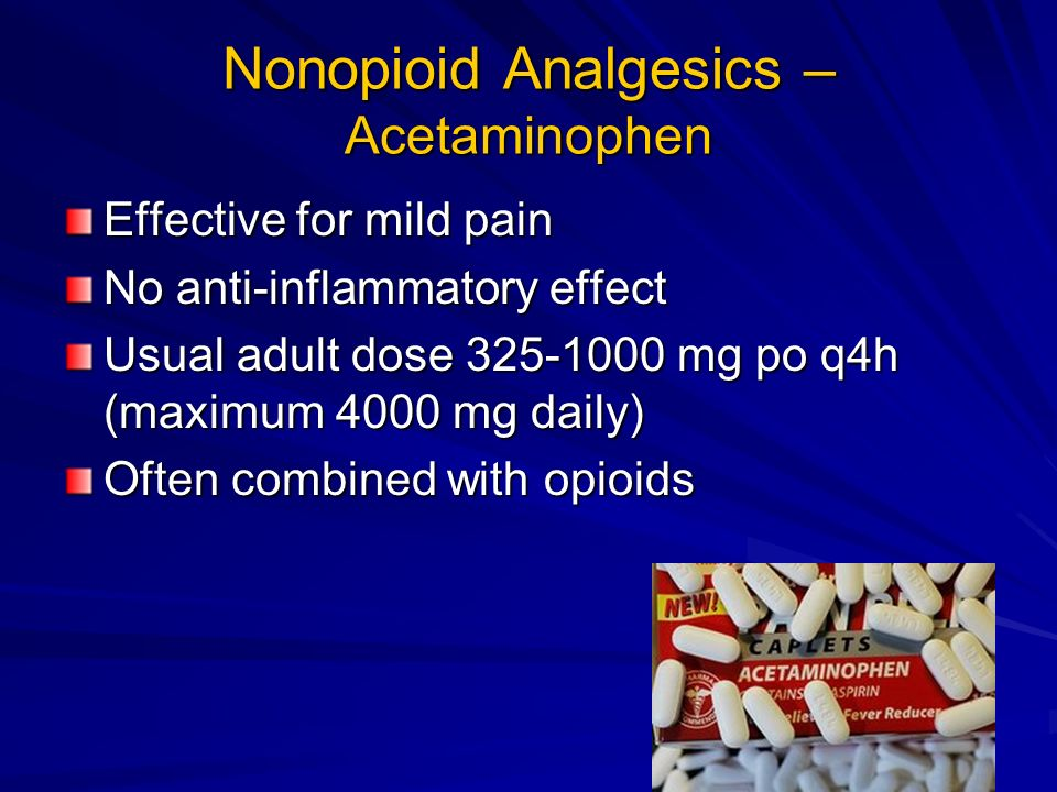 Nonopioid Analgesics – Acetaminophen