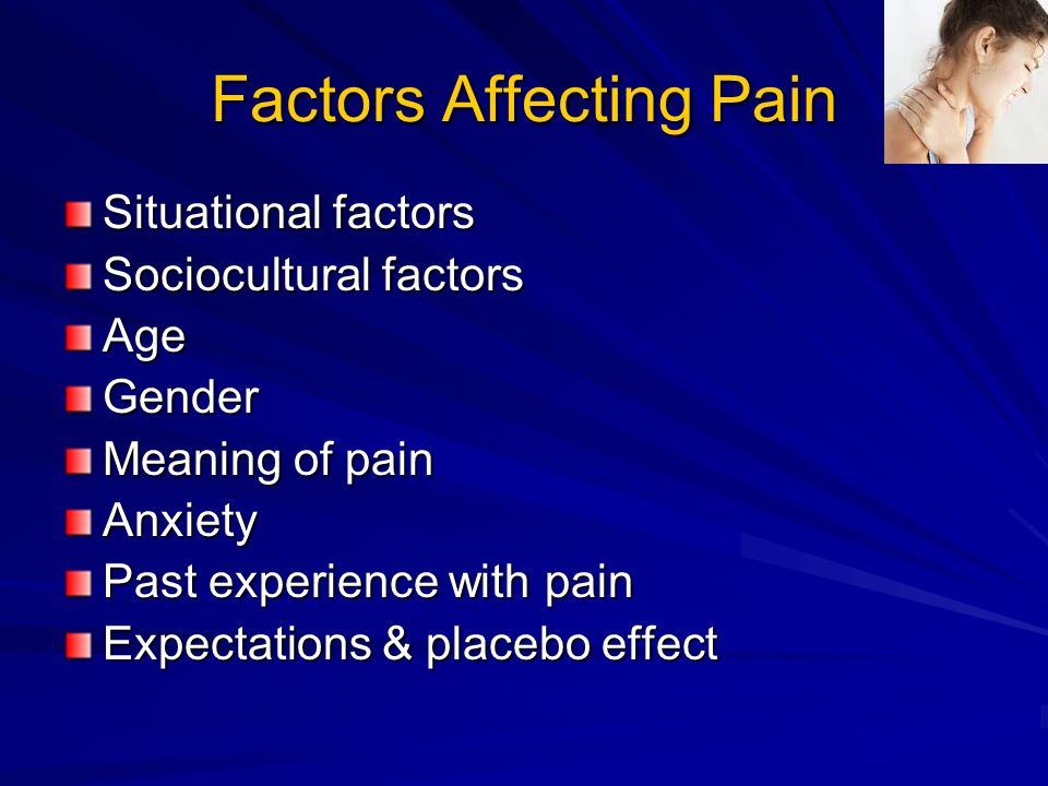 Factors Affecting Pain