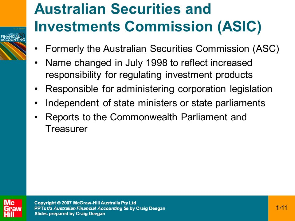 Australian Securities and Investments Commission (ASIC)