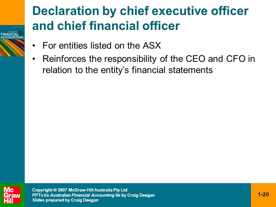 Declaration by chief executive officer and chief financial officer