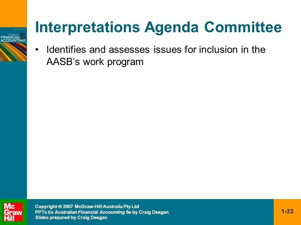 Interpretations Agenda Committee