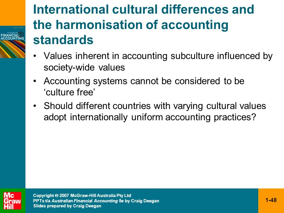 International cultural differences and the harmonisation of accounting standards