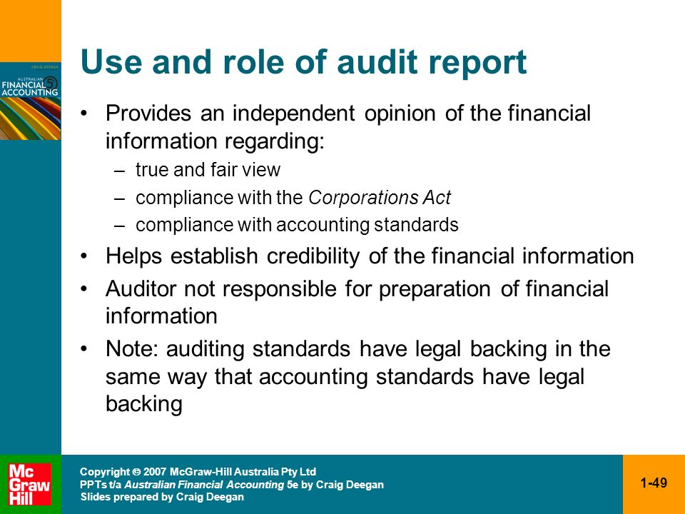 Use and role of audit report
