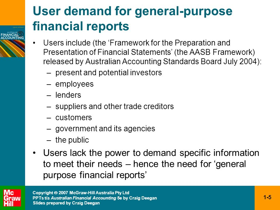 User demand for general-purpose financial reports