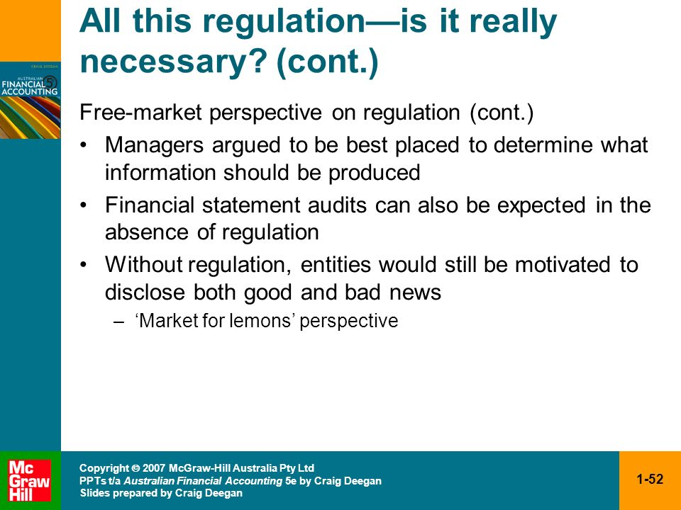 All this regulation—is it really necessary (cont.)