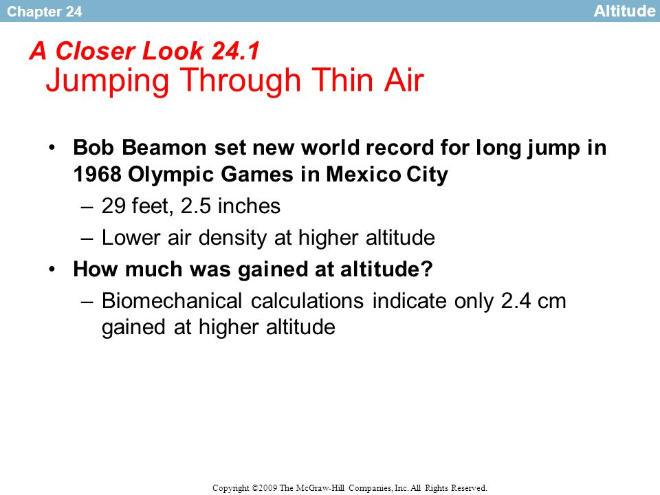 A Closer Look 24.1 Jumping Through Thin Air