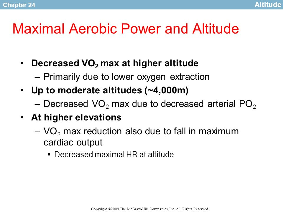 Maximal Aerobic Power and Altitude