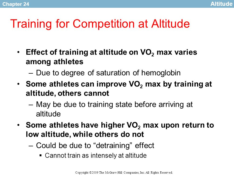Training for Competition at Altitude