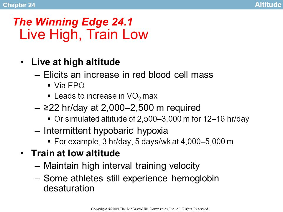 The Winning Edge 24.1 Live High, Train Low