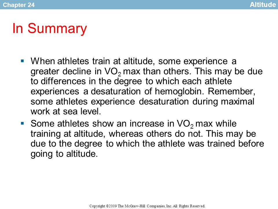 Altitude In Summary.