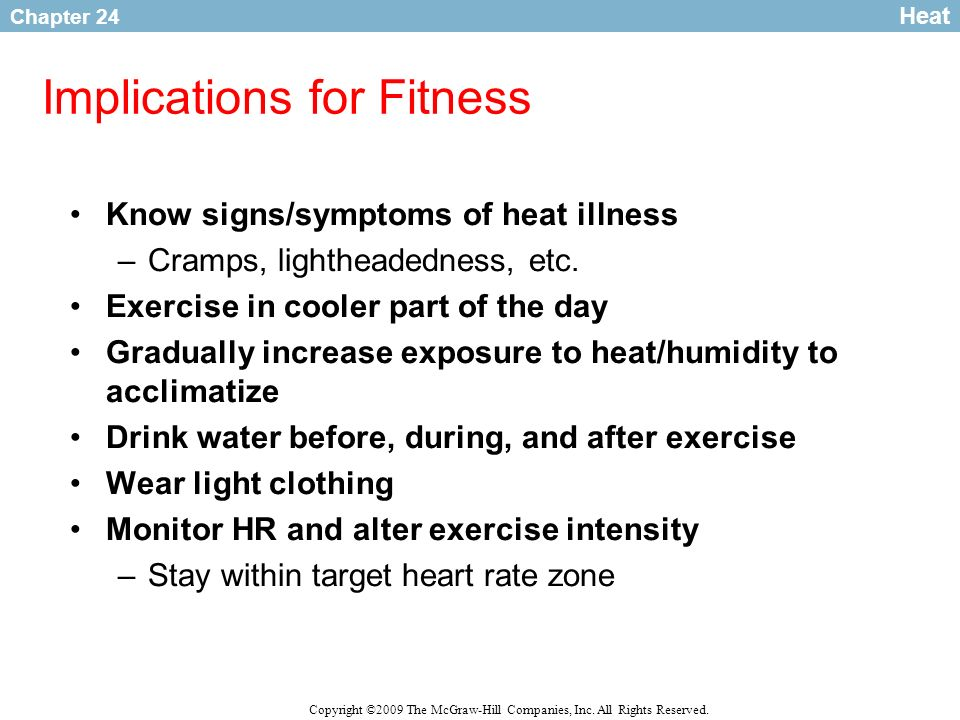 Implications for Fitness