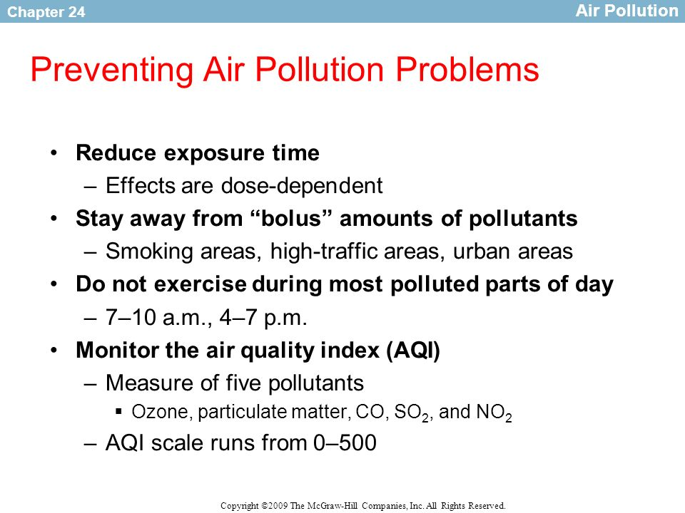 Preventing Air Pollution Problems