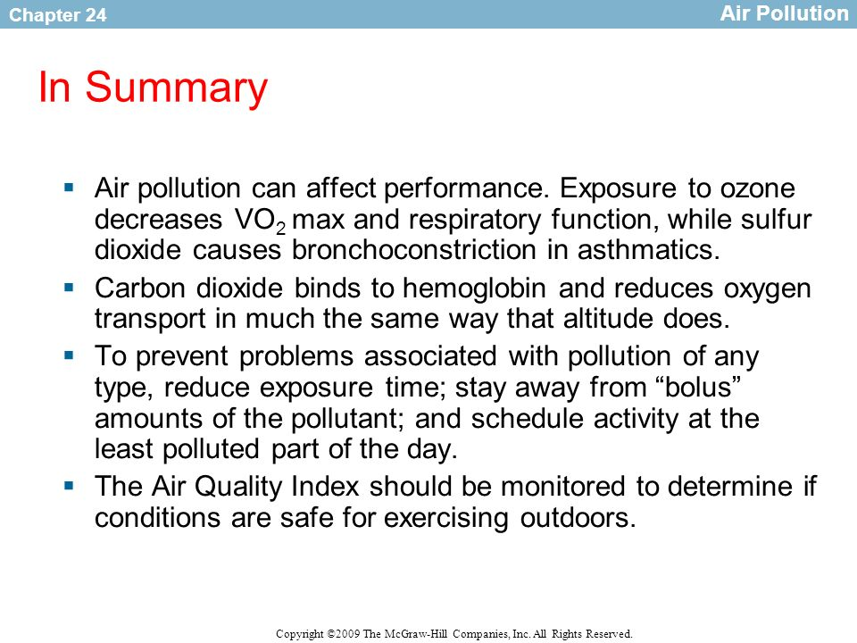 Air PollutionIn Summary.